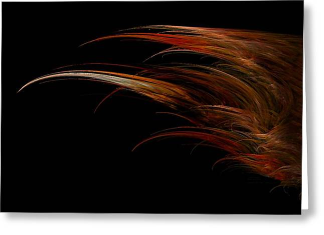 Red Headed Angel Wing Greeting Card by Madeline  Allen - SmudgeArt