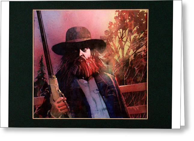 Greeting Card featuring the painting Red Headed Stranger by David  Chapple