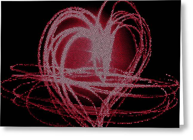 Red Heart Greeting Card by Aya Murrells