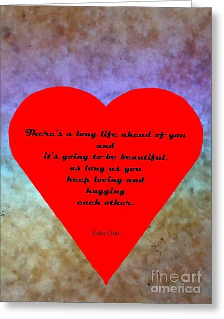 Red Heart Card For Lovers Greeting Card by Barbie Corbett-Newmin