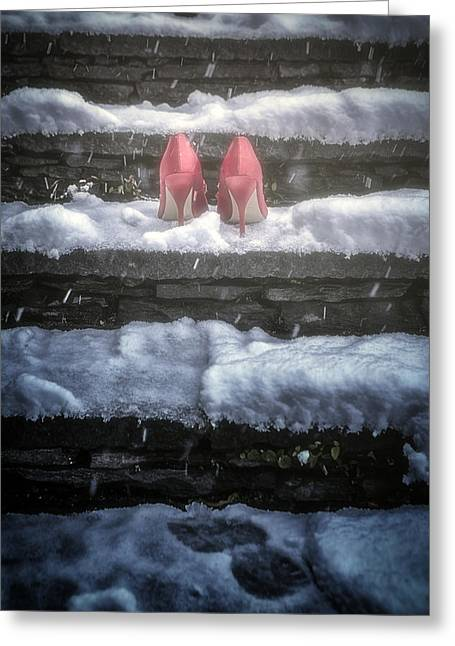 Red High Heels Greeting Card by Joana Kruse