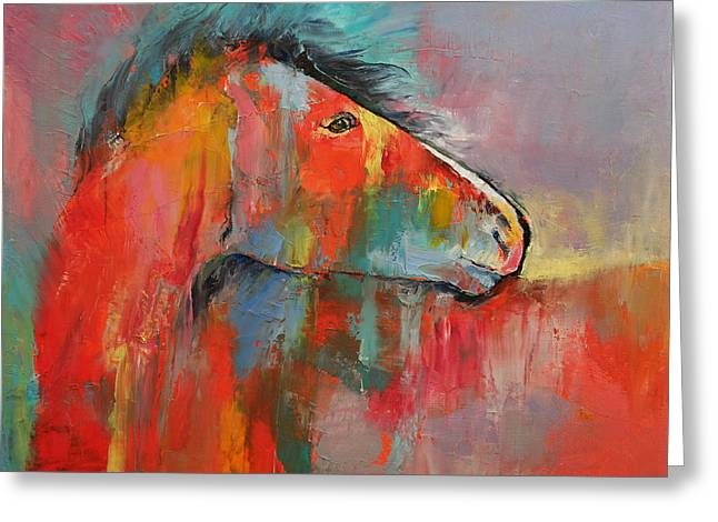 Red Horse Greeting Card