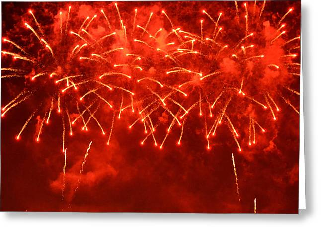 Red Hot Fireworks Greeting Card