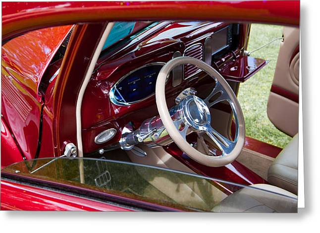 Red Hot Rod Interior Greeting Card by Mick Flynn