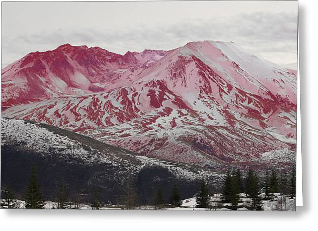 Red Hot St Helen Greeting Card by Rich Collins