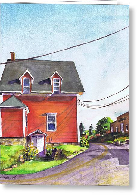Red House Bass Harbor Greeting Card
