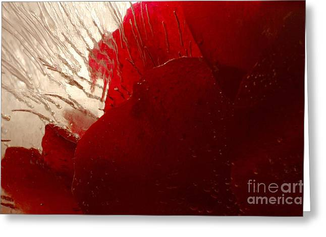 Red Ice Greeting Card