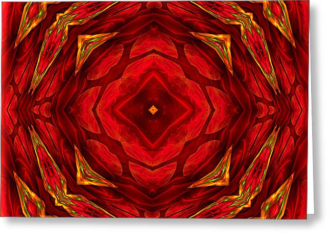 Red Involvements - Abstract Art By Giada Rossi Greeting Card