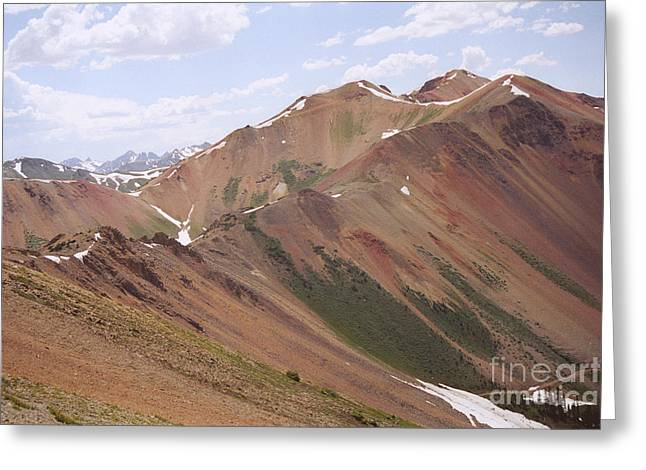 Greeting Card featuring the photograph Red Iron Mountain by Arthaven Studios