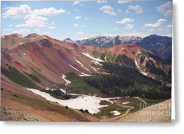 Greeting Card featuring the photograph Red Iron Mountain by Teri Brown