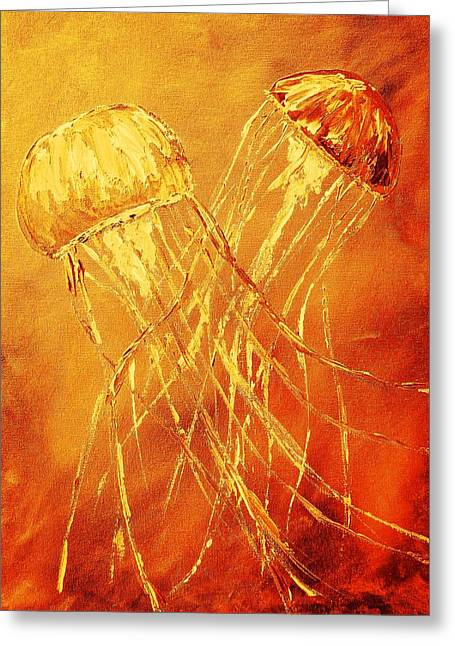 Red Jellies Greeting Card
