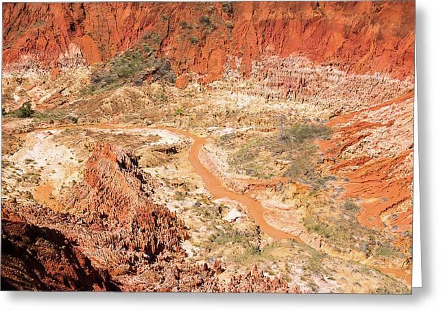 Red Karst Limestone Landscape Greeting Card by Dr P. Marazzi