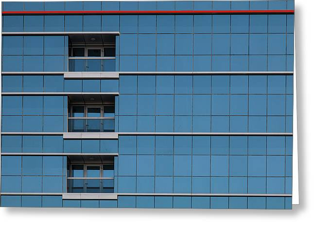 Red Line Building. Greeting Card