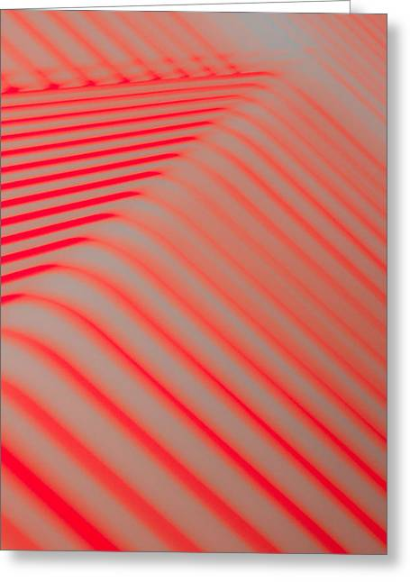 Red Lines Greeting Card