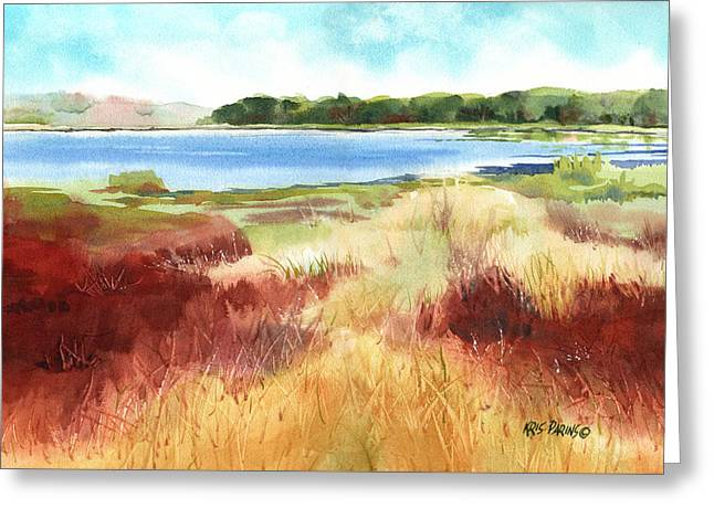 Red Marsh Greeting Card