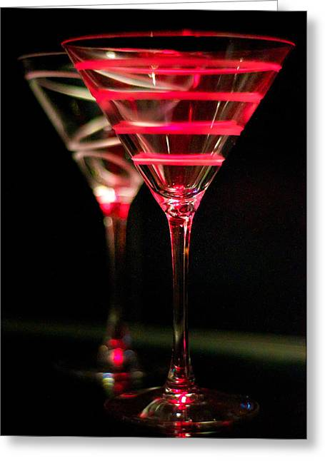 Red Martini Greeting Card