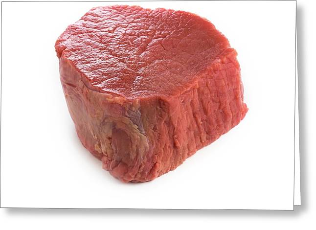 Red Meat Greeting Card by Science Photo Library