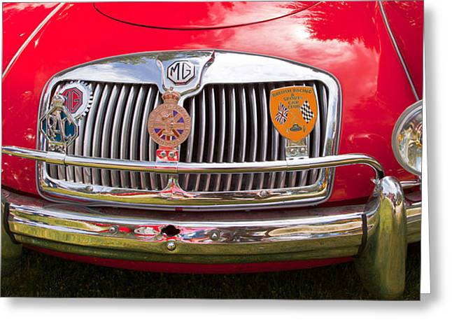 Red Mg Sports Car Canada Greeting Card by Mick Flynn