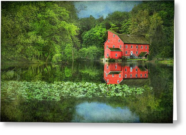 Red Mill Art Greeting Card