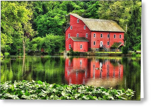 Red Mill Topaz Greeting Card