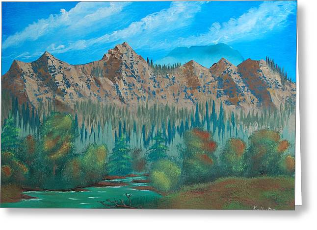 Red Mountain Creek Greeting Card by Peter Kallai