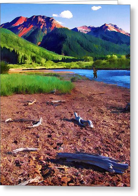 Red Mountain Driftwood Greeting Card by Rick Wicker