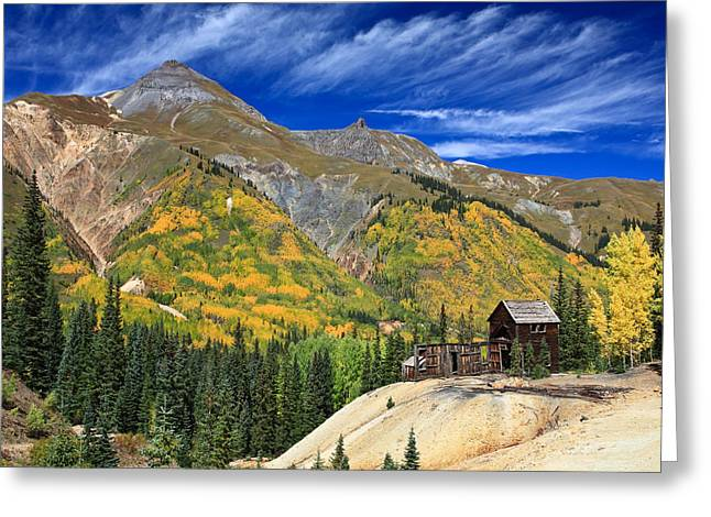 Red Mountain Mine Greeting Card by Robert Yone