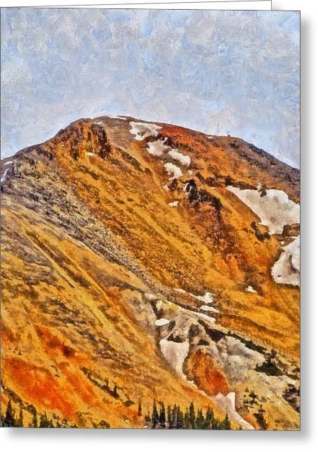 Red Mountain Pass Colorado Greeting Card