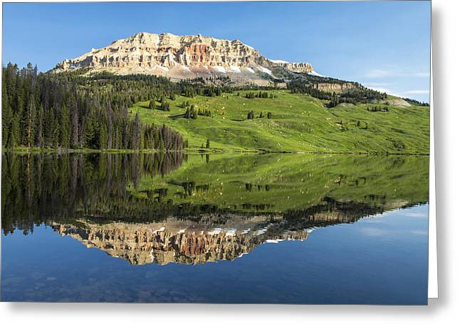 Red Mountain Reflection Greeting Card