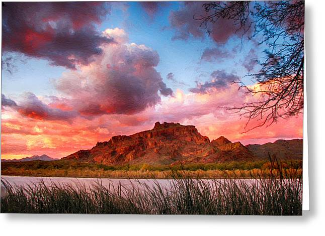 Red Mountain Sunset Greeting Card