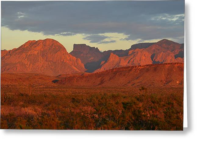 Red Mountains Greeting Card
