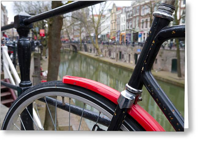 Red Mudguard Greeting Card by Hans Engbers