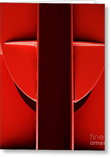 Red Greeting Card by Newel Hunter