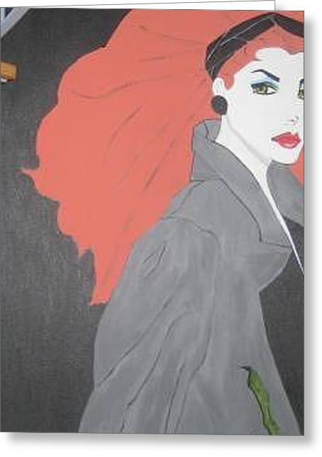 Greeting Card featuring the painting RED by Nora Shepley