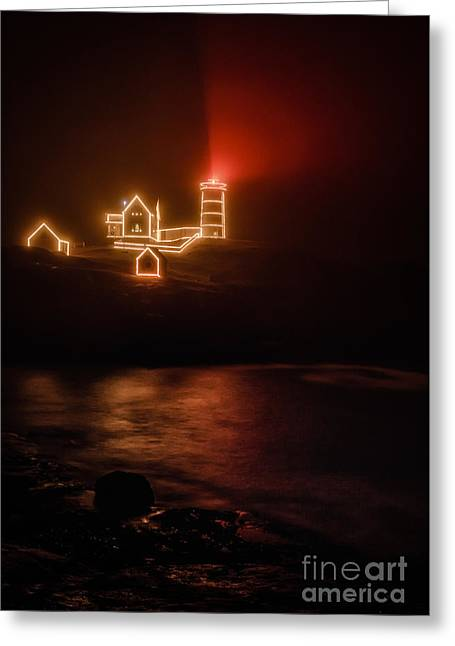 Red Nubble Greeting Card by Scott Thorp