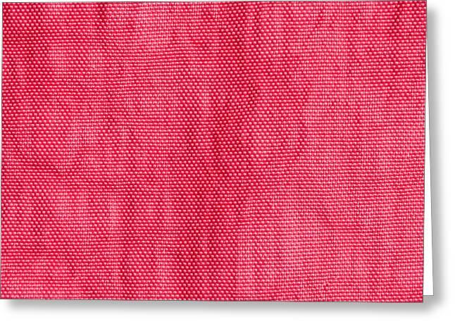 Red Nylon Greeting Card by Tom Gowanlock