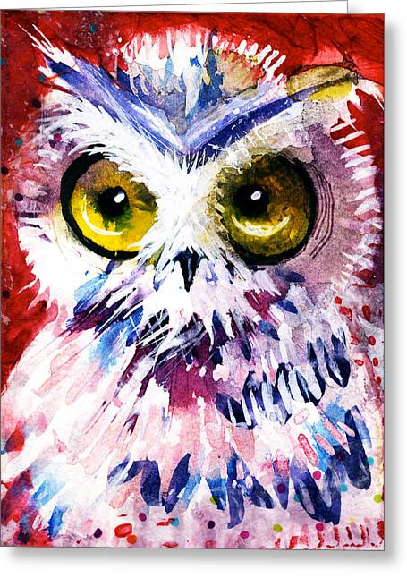 Red Owl Greeting Card
