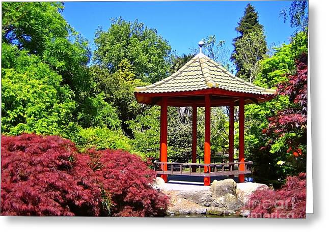Red Pagoda Greeting Card