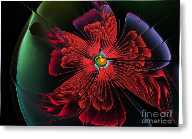 Red Passion Greeting Card by Karin Kuhlmann