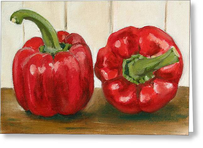 Red Pepper Greeting Card by Sarah Lynch