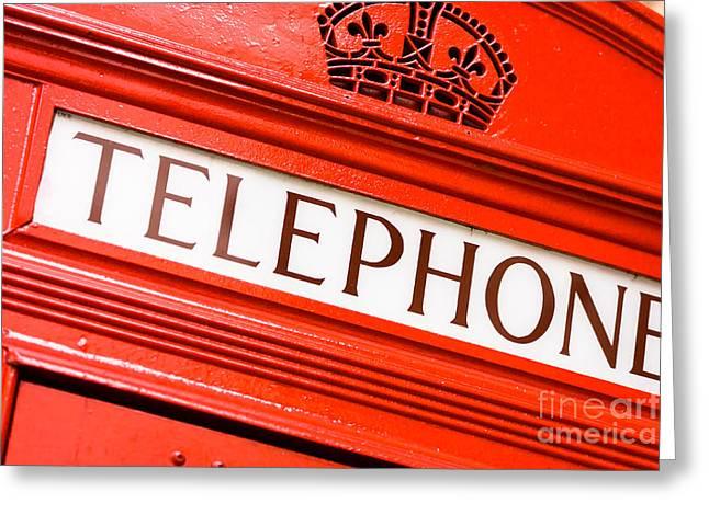 Red Phone Box Greeting Card by Andy Myatt