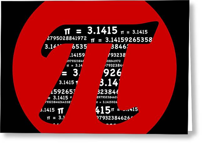 Red Pi Greeting Card