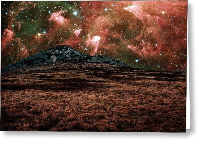 Red Planet Greeting Card by Semmick Photo