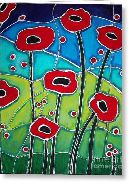 Red Poppies 1 Greeting Card