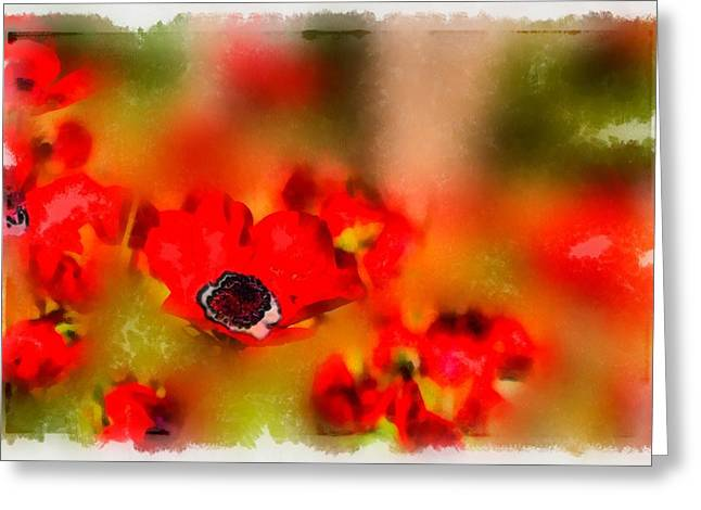 Red Poppies Inspiration Greeting Card