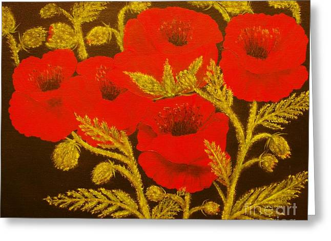 Red Poppy-original Sold-buy Giclee Print Nr 31 Of Limited Edition Of 40 Prints  Greeting Card by Eddie Michael Beck
