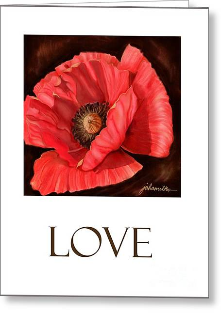 Red Poppy Card Greeting Card