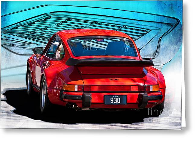 Red Porsche 930 Turbo Greeting Card