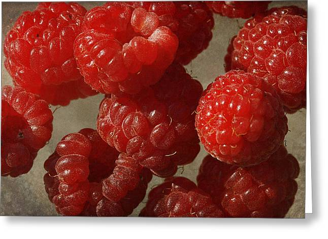 Red Raspberries Greeting Card