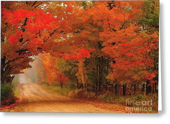 Red Red Autumn Greeting Card